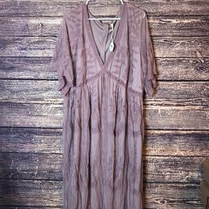 NWT Womens Pinkblush 3X Mauve Blush Maxi Dress